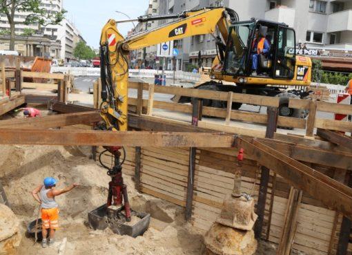 Baustelle der Berliner Wasserbetriebe