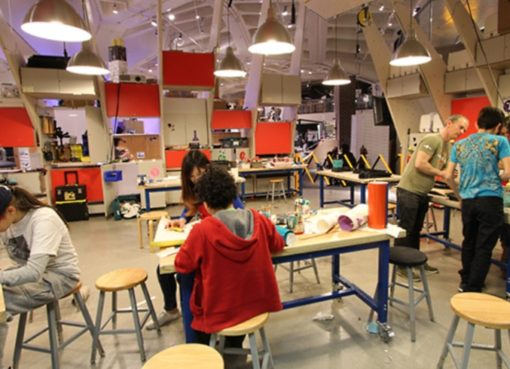 MakerSpace in der New York Hall of Science
