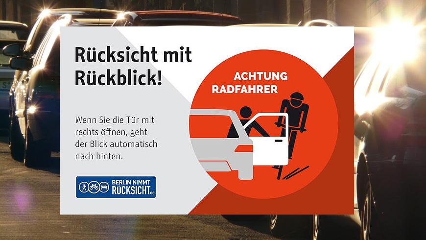 Vorsicht beim Öffnen der Fahrertür!