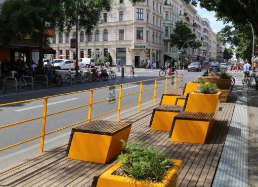 Parklet in der Bergmannstraße