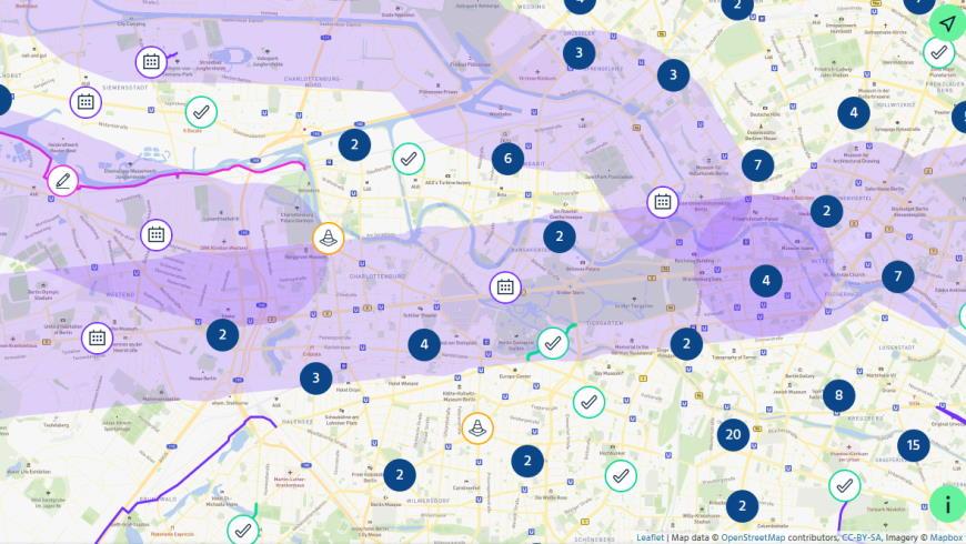 Radverkehr: infraVelo Projektkarte Berlin